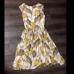 Vintage a line midi dress